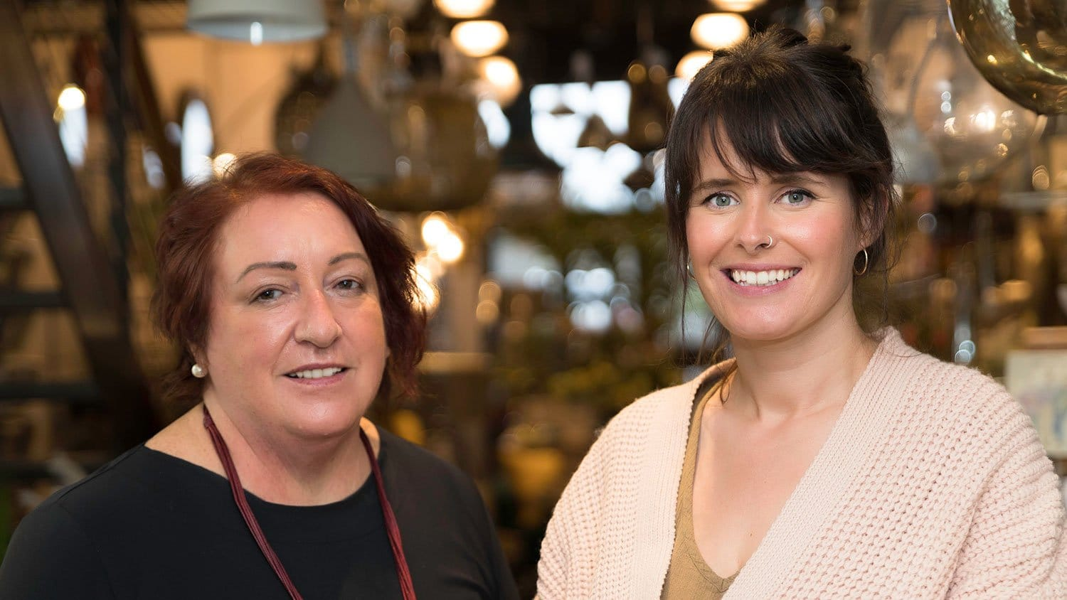 Maire Kennelly and Amy Sheehy at Elizabelle Interiors Listowel